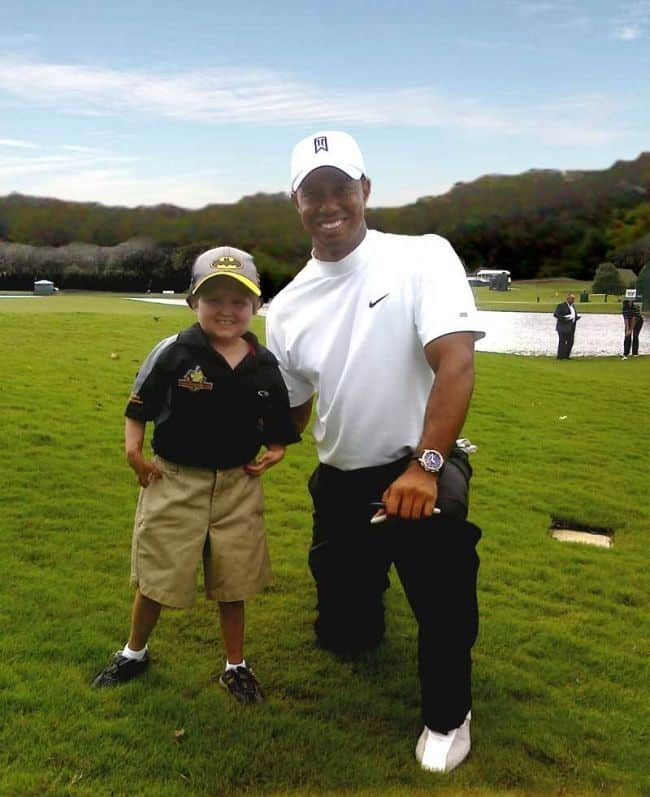 Tiger Woods w Christian Collins TOUR Championship